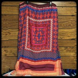 Cato boho long skirt fully lined!  XL
